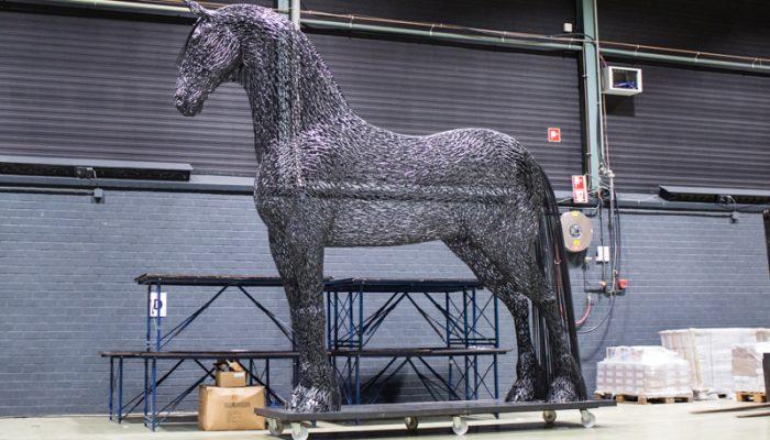 Dit is de maquette, net nadat hij is aangekomen in het WTC in Leeuwarden.